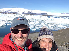 Anne and John, Iceland trip May 2016